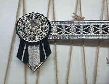 BRAND NEW BROWBAND - LARGE PONY - BLACK AND SILVER- DISCOUNTED