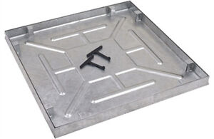 600 x 600 x 46mm Water & Gas Tight Recessed Manhole Cover - AQK6060