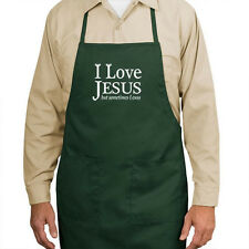 Love Jesus But Sometimes I Cuss New APRON Gifts PICK COLOR, Read Details