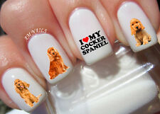 Cocker Spaniel Nail Art Stickers Transfers Decals Set of 60