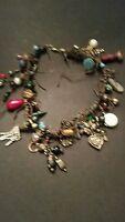 Vintage Charm Necklace Handmade Boho Dangle