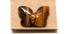 "Hand Carved Butterfly Gemstone Animal Figurine 1""- Tiger Eye"