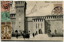1911 Cinquantenario dell'Unità d'Italia 2 cent. su Cartolina Milano dest. Belgio