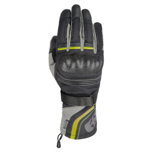 Oxford Montreal 4.0 MS Dry2Dry Men's Motorcycle Gloves Black Grey and Fluo