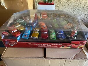 Disney Pixar Cars disneystore MEGADELUXE WOLRD OF RACING Collectors Set rare