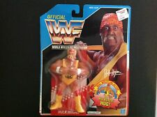 1990 Hasbro WWF Wrestling HULK HOGAN HULKSTER HUG Figure - US English card