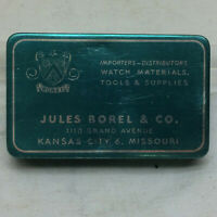 Vintage Watch Part Tin ONLY Jules Borel & Co. Kansas City Co.