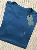 "ALL SAINTS DARK TEAL BLUE ""NIC TONIC"" S/S CREW LOGO T-SHIRT XS S M L XL XXL NEW"