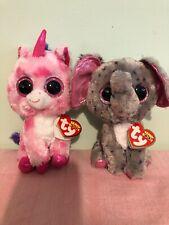 Ty Beanie Boos Sugar Pie The Valentine Love Unicorn Speck The Elephant