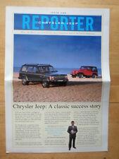 JEEP & CHRYSLER 1994 UK Mkt Newsletter Reporter Brochure - Issue 1