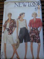 6563 Vintage UNCUT New Look Sewing Pattern Misses Blouse Top Shorts 8 - 20 OOP