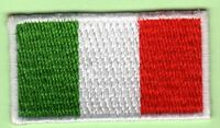 BANDIERA BANDIERINA TRICOLORE ITALIA TOPPA PATCH TERMOADESIVA 45x25mm