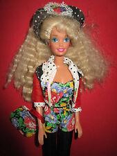 B393-VECCHIA VINTAGE Teen Talk Barbie #5745 MATTEL 1992 età corpo senza funzione