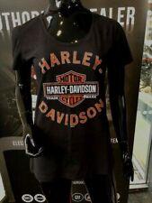 Harley-Davidson Women's Black Short Sleeve Dealer T-Shirt Lancashire England