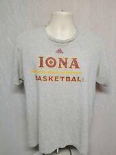 Adidas Iona College Basketball Adult Large Gray TShirt
