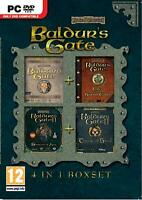 Baldur's Gate (4 in 1 Collection) SWORD COAST+Throne of Bhaal (4 PC Games)