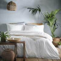 White Duvet Covers Plain 100% Washed Cotton Soft Luxury Quilt Cover Bedding Sets