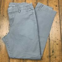 Old Navy Pixie Womens 4 Regular Chino Ankle Pants Gray Stretch Flat Front