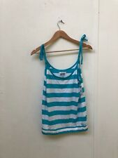 Vans Of The Wall Women's All Aboard Striped Vest - Various Sizes - Blue - New