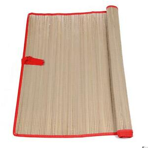 """Natural Straw Summer Beach Mats w Colored Trim 69""""x27.5"""" Party Favor"""