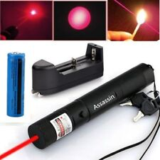650nm Astronomy Military Tactical Red Laser Pointer Pen + 18650 Battery+ Charger
