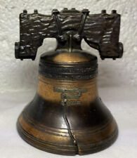 Vintage Liberty Bell (Miniature) Pass and Stow Metal Aged look Bronze Brass Nice