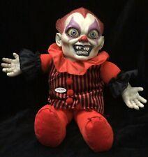 "Talking Killer Clown Doll Horror Evil Scary Prop Halloween Prop 10"" Decoration"