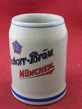 Krug Bier in Sandstein Pschorr Bräu München WW 0,25 L