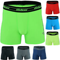 Didoo mens compression boxer shorts base layer gym pants Sports Trunks Briefs
