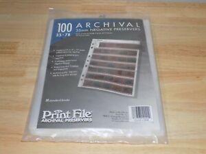 Print File 100 Archival 35mm Negative Preservers 35-7B 010-0090