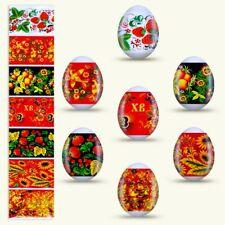 Khokhloma - Deco Oeufs de Pâques, Décorations thermocollant pour oeuf de Pâques