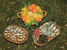 Euromarchi Nativity Accessory Plastic Fish Fruit Bread Baskets for Pesebre