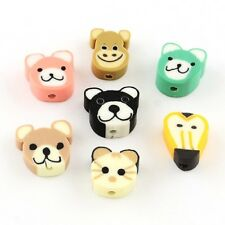 50 x Mixed Animal Polymer Clay Spacer Beads