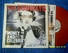 THE SUBWAYS-MONEY AND CELEBRITY 2011 RED VINYL LP
