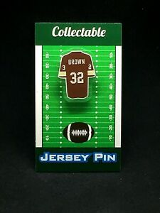 Cleveland Browns Jim Brown jersey lapel pin-#1 Classic throwback Collectible
