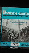 14 anciennes revues FRANCE MOTO 1955 1966,moto-cross ,trial,moto-ball,gastrack