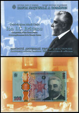 More details for romania 100 lei (p new) 2019 commemorative issue wth folder polymer unc