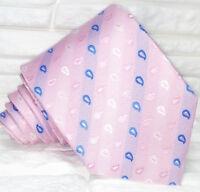 Necktie silk pink Made in Italy weddings / business men's ties Morgana brand tie