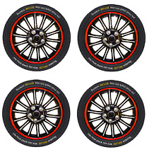 Luxury Stylish 13 14 15 16 INCH Wheel Trim Covers SETS Red/Silver/Black/Blue