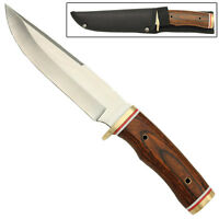 Glacier Park Wooden Fixed Blade Camping Wilderness Survival Knife