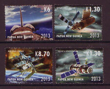 PAPUA NEW GUINEA 2013 SPACE STATION SET OF 4 UNMOUNTED MINT, MNH