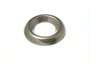 PACK 100 SCREW CUP WASHERS NICKEL PLATED NP 4.22MM # 8