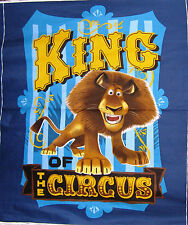 Madagascar 3 Movie Alex Lion King Of The Circus Blue Cotton Fabric By The Panel