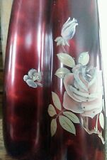 Maruni Royal Porce Ware Pigeon Blood Rose And Lacquer Lamp
