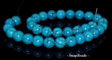"""10MM QUEEN TURQUOISE GEMSTONE BLUE ROUND 10MM LOOSE BEADS 7.5"""""""