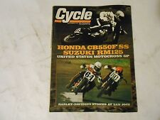 SEPTEMBER 1975 CYCLE MAGAZINE,HONDA CB550F SS,SUZUKI RM125,HARLEY AT SAN JOSE CO