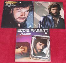 Eddie Rabbit (Lot of 3 LPs): Step By Step / Horizon / Radio Romance