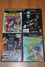 Nintendo GameCube 4 Game Bundle Resident Evil NFL Blitz Sonic Frogger Complete