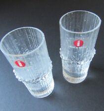 Iittalla Finland NIVA Cordials Shot Glasses Set of 2 Tapio Wirkkala w/ Stickers
