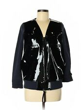 2012 MARNI at H&M Shiny Leather Jacket Black Blue - US 6 MINT!